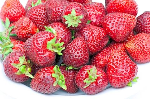 strawberries & cherry pie 9