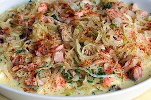 salmon & potato gratin 18