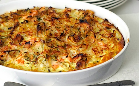 salmon & potato gratin 25
