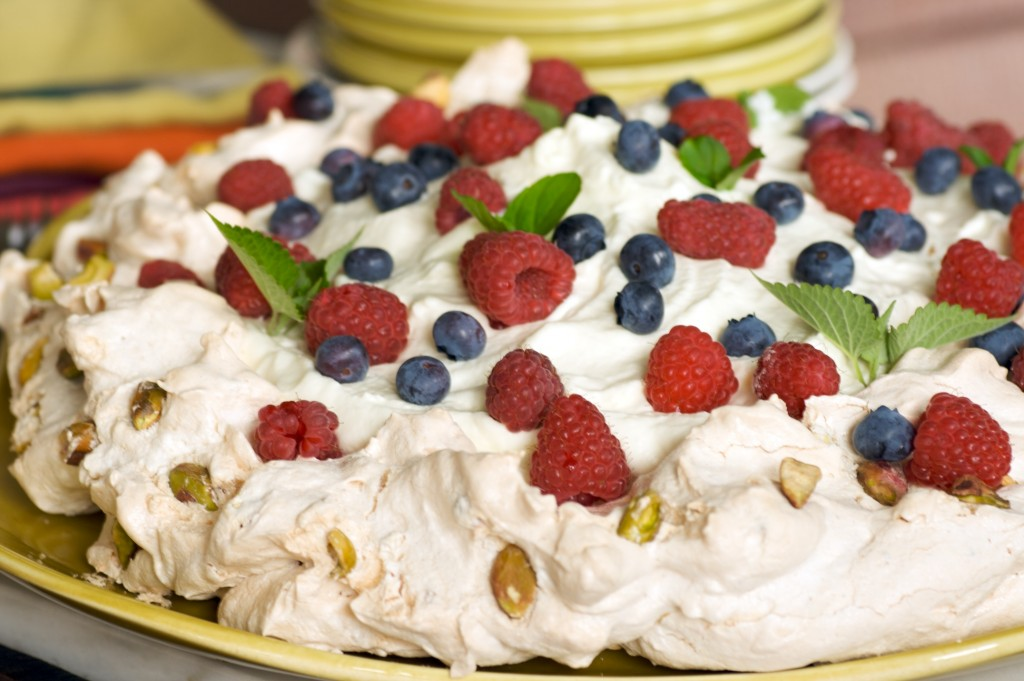 Pavlova is a Mixed Greens reposting from summer 2009.