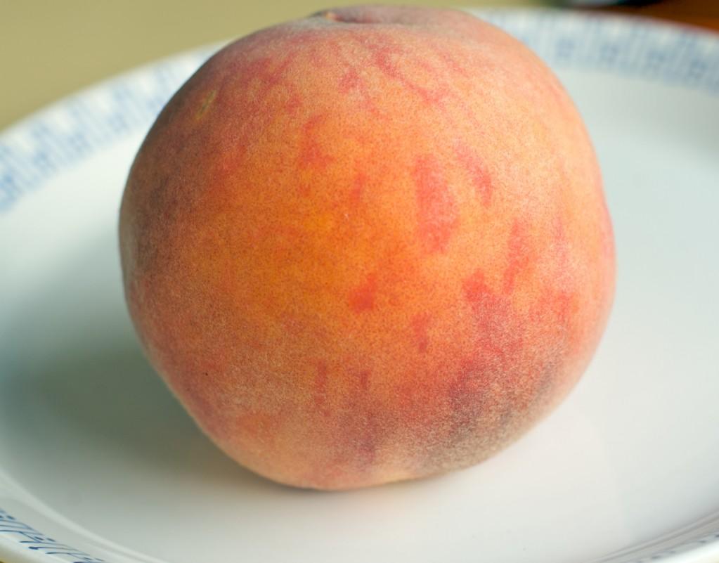 peach-on-a-plate