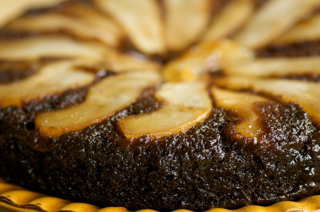 Pear Ginger Upside Down Cake Recipe