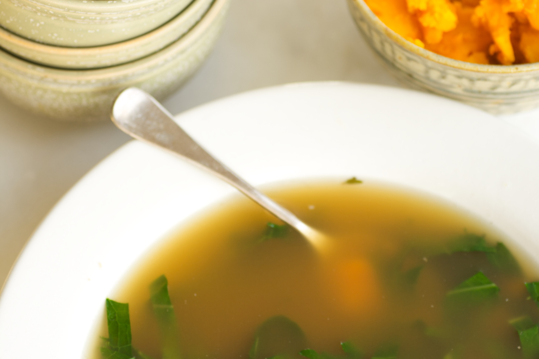 turkey soup with kale and squash