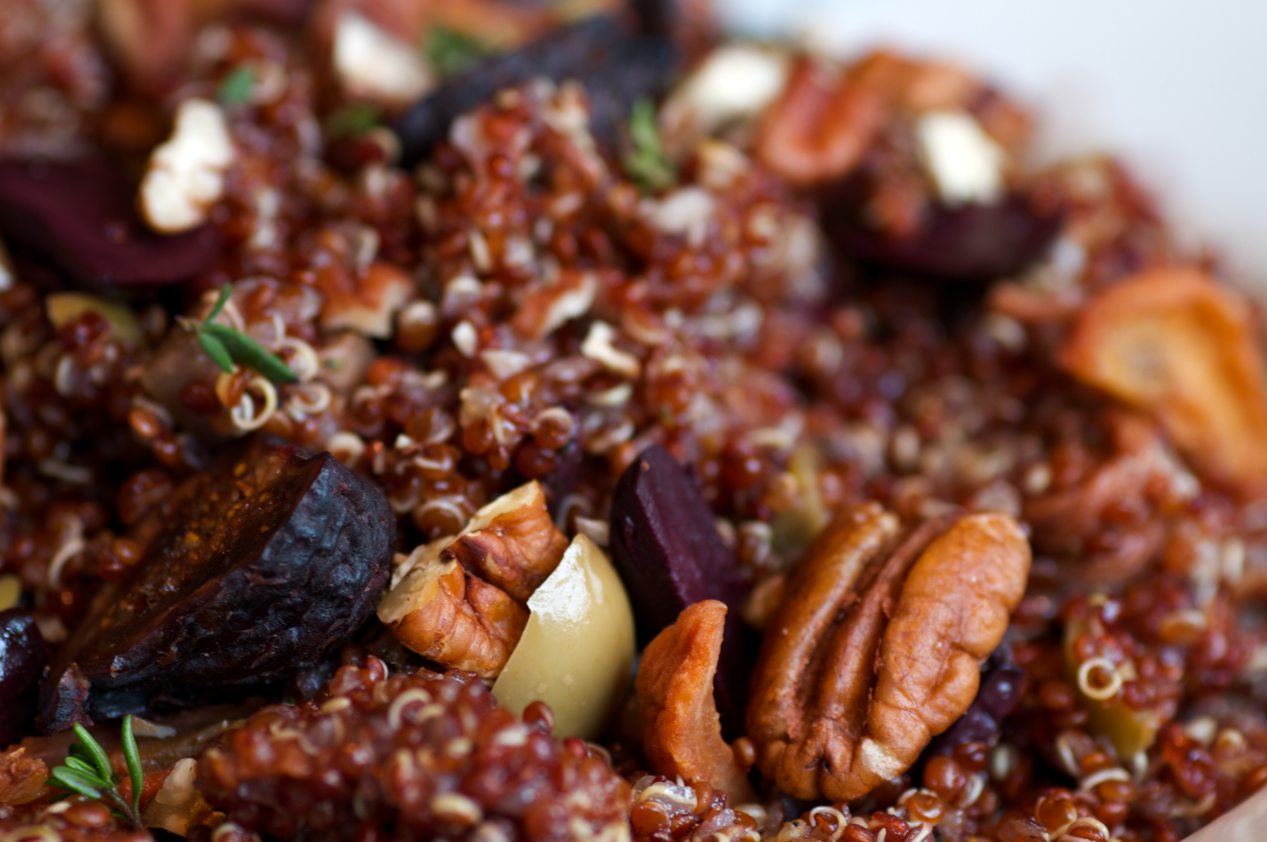 Quinoa w/figs and hazelnuts