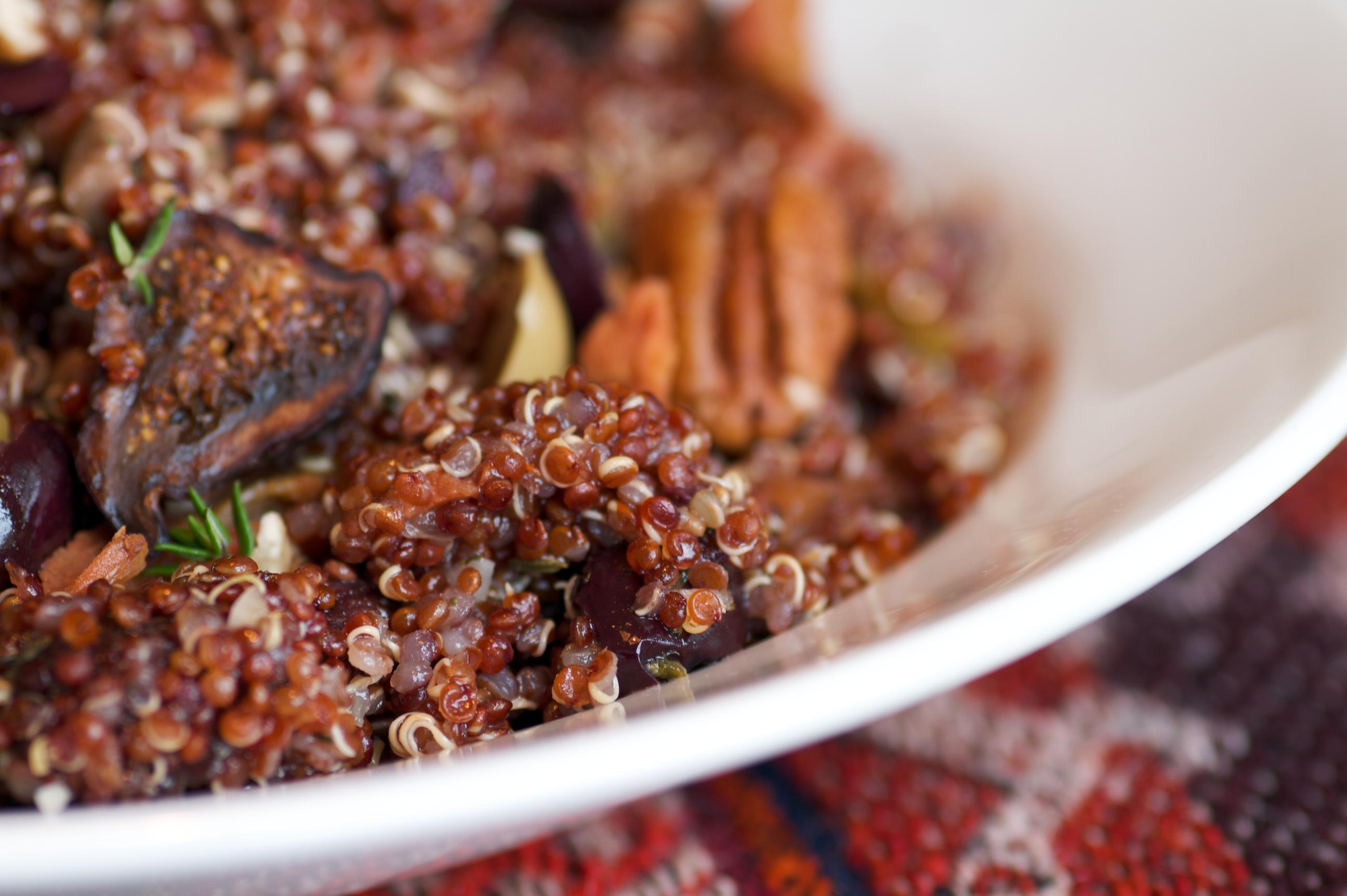 Quinoa w/figs