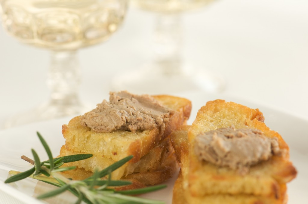 Chicken Liver Pate on Crostini