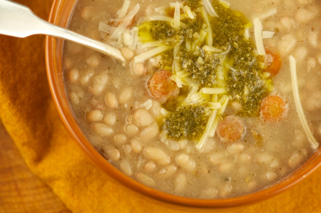Bean Soup with Nettle Pesto