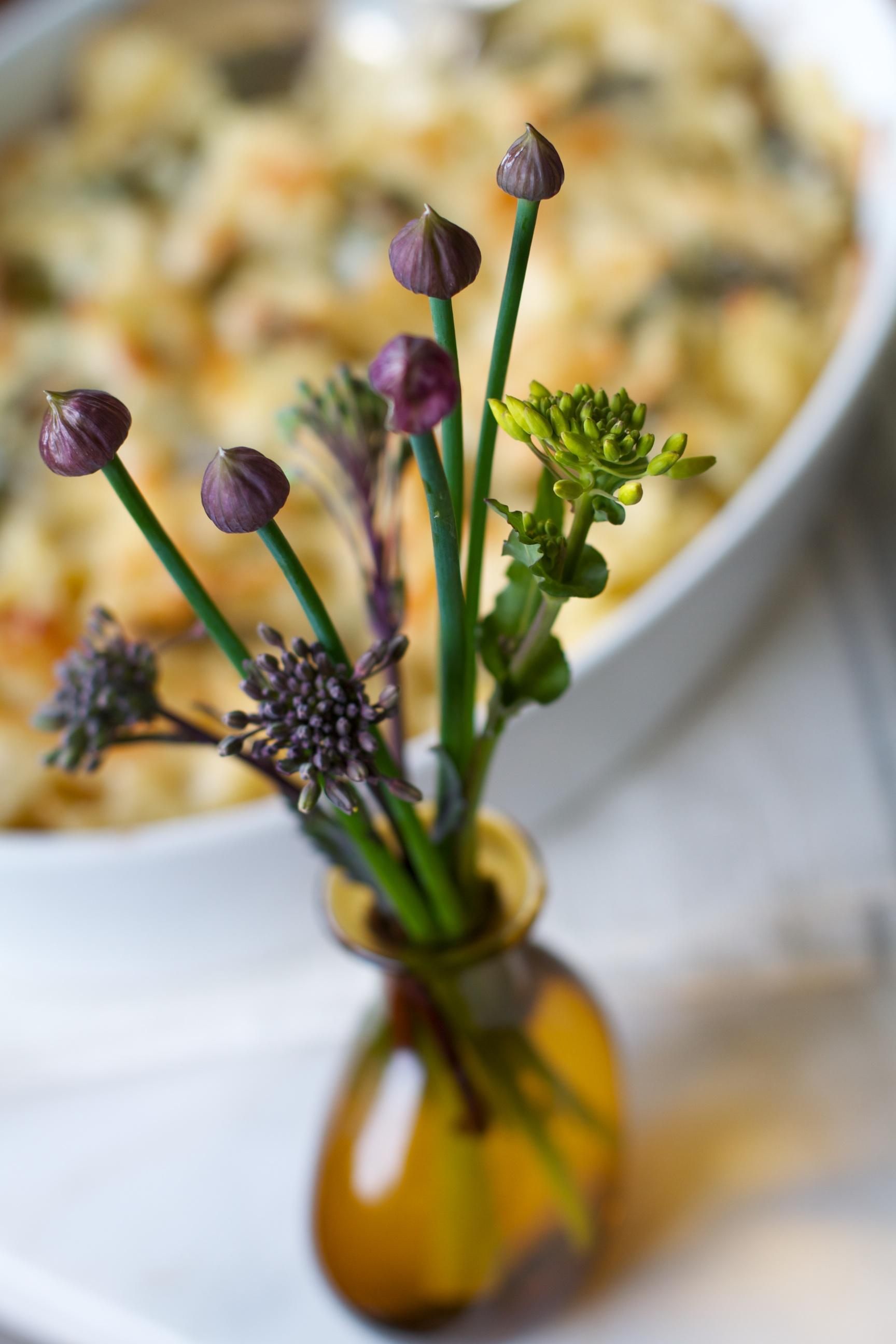 Brassica & chive florets