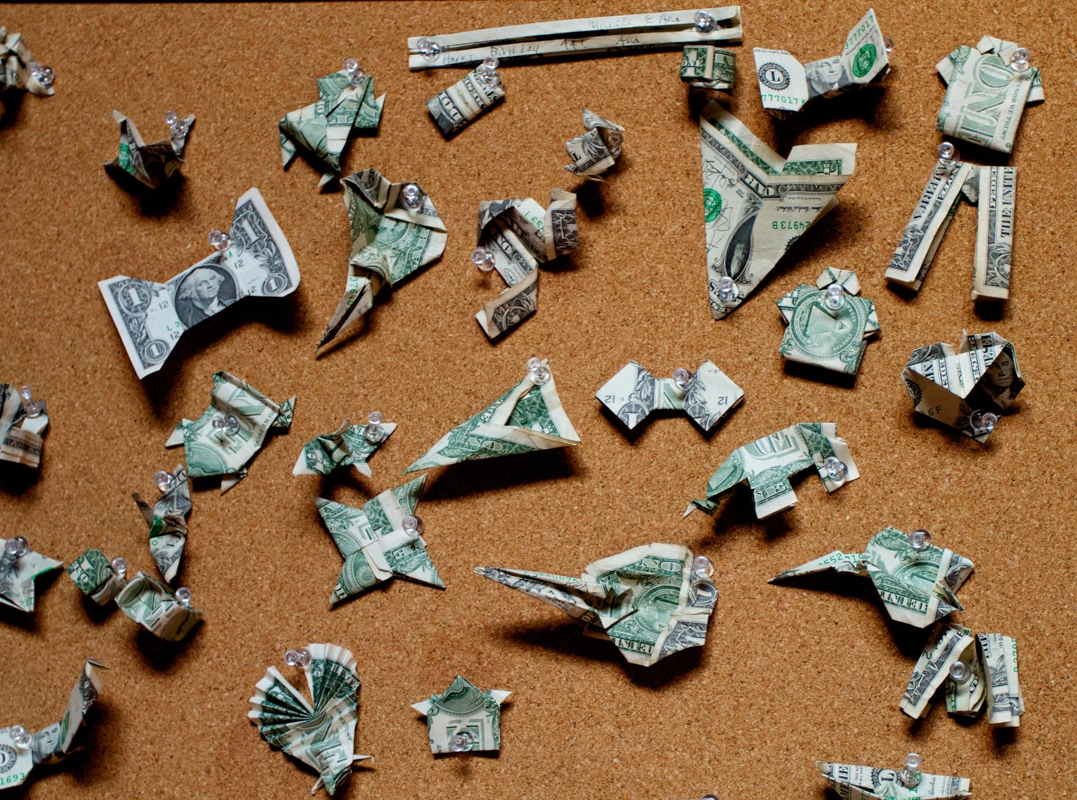 origami dollars