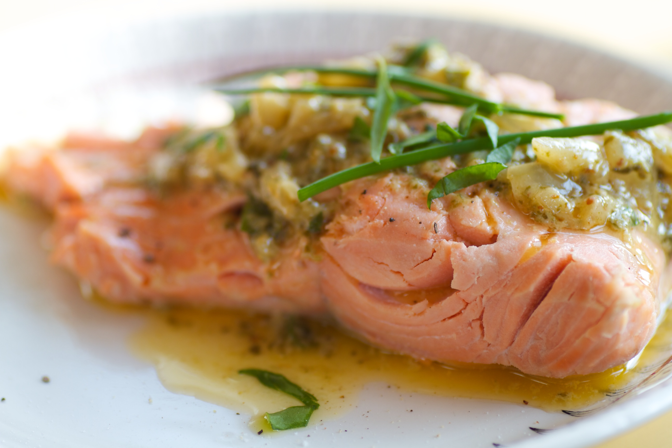 salmon with sorrel sauce