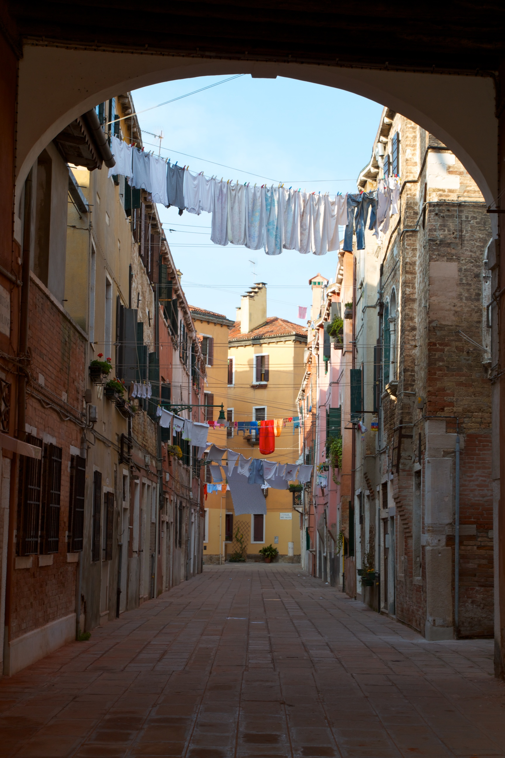 Clothes on the line, Venice, IT