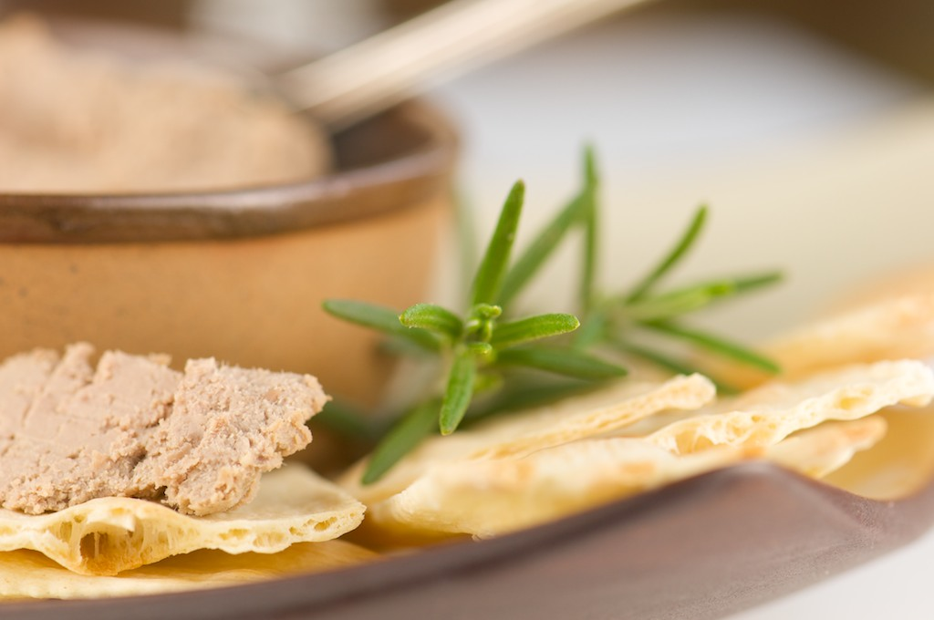Pate on Crackers