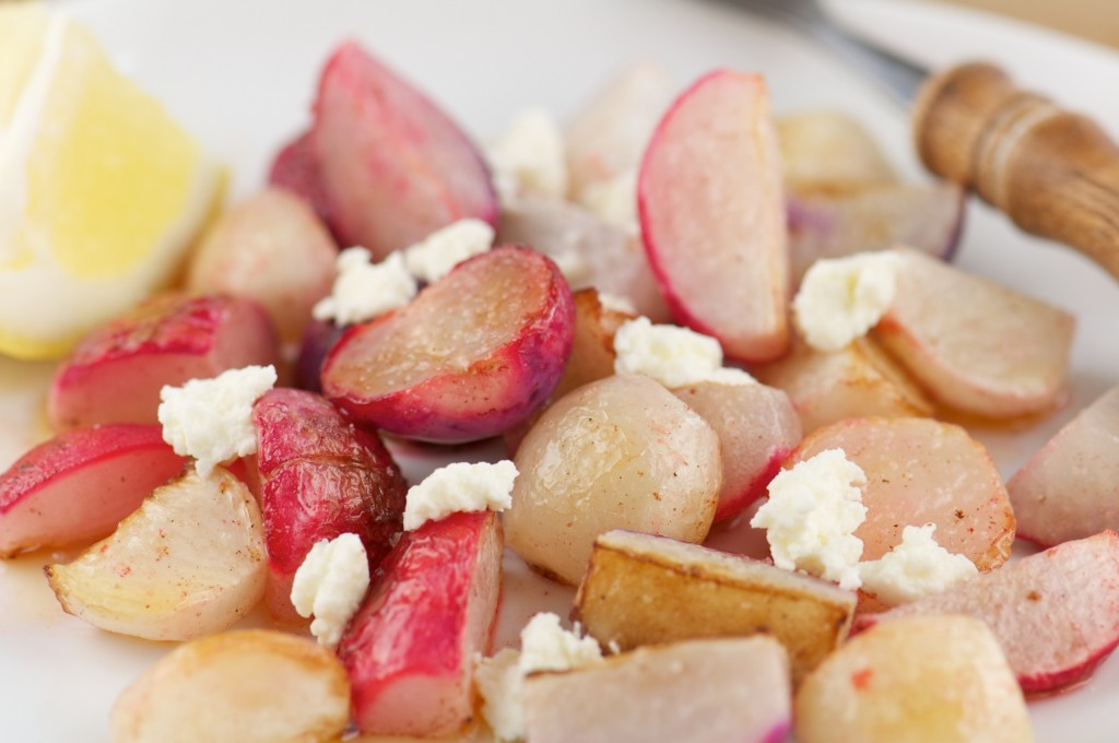 Plate of Pan Roasted Radishes
