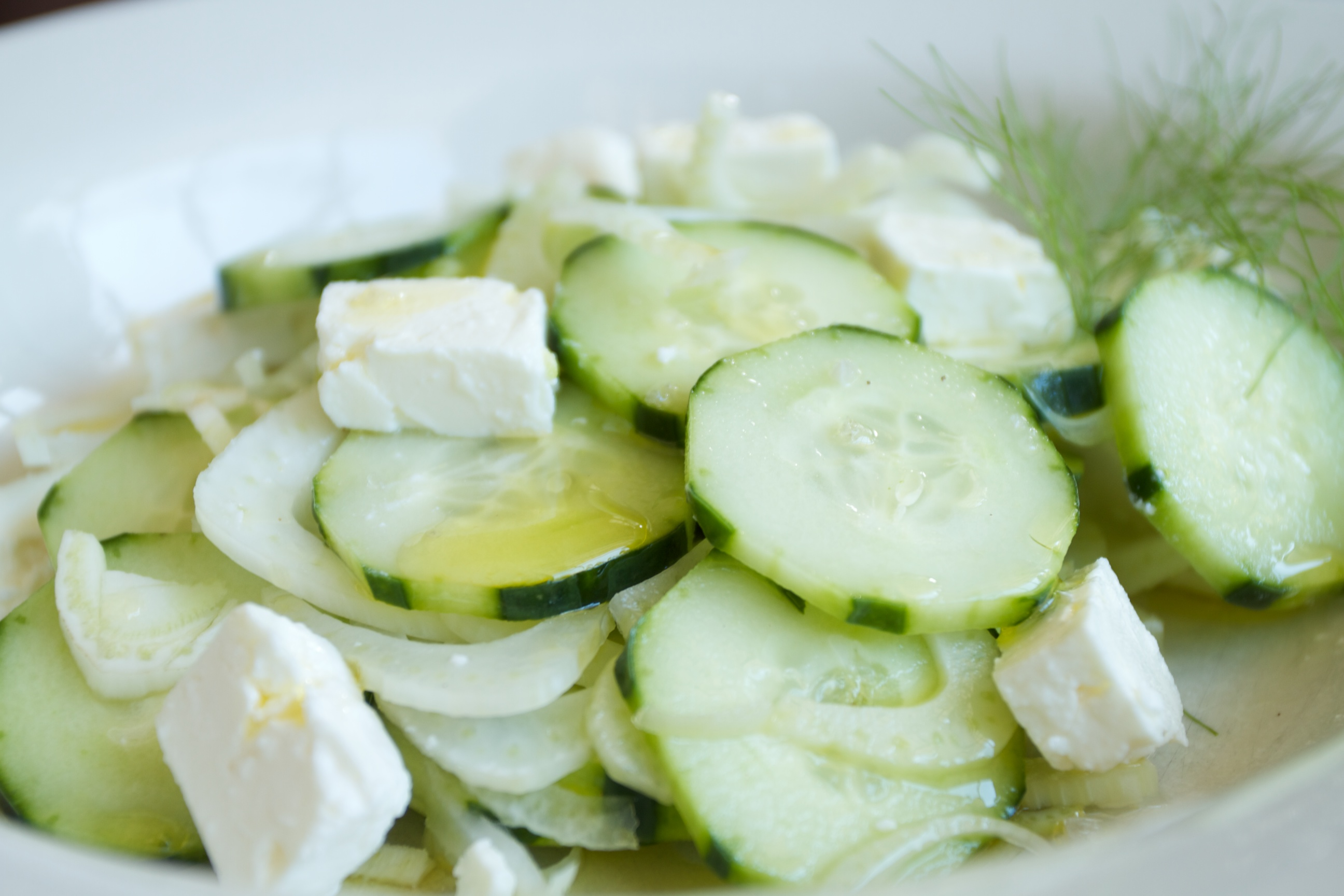 cucumbers & feta