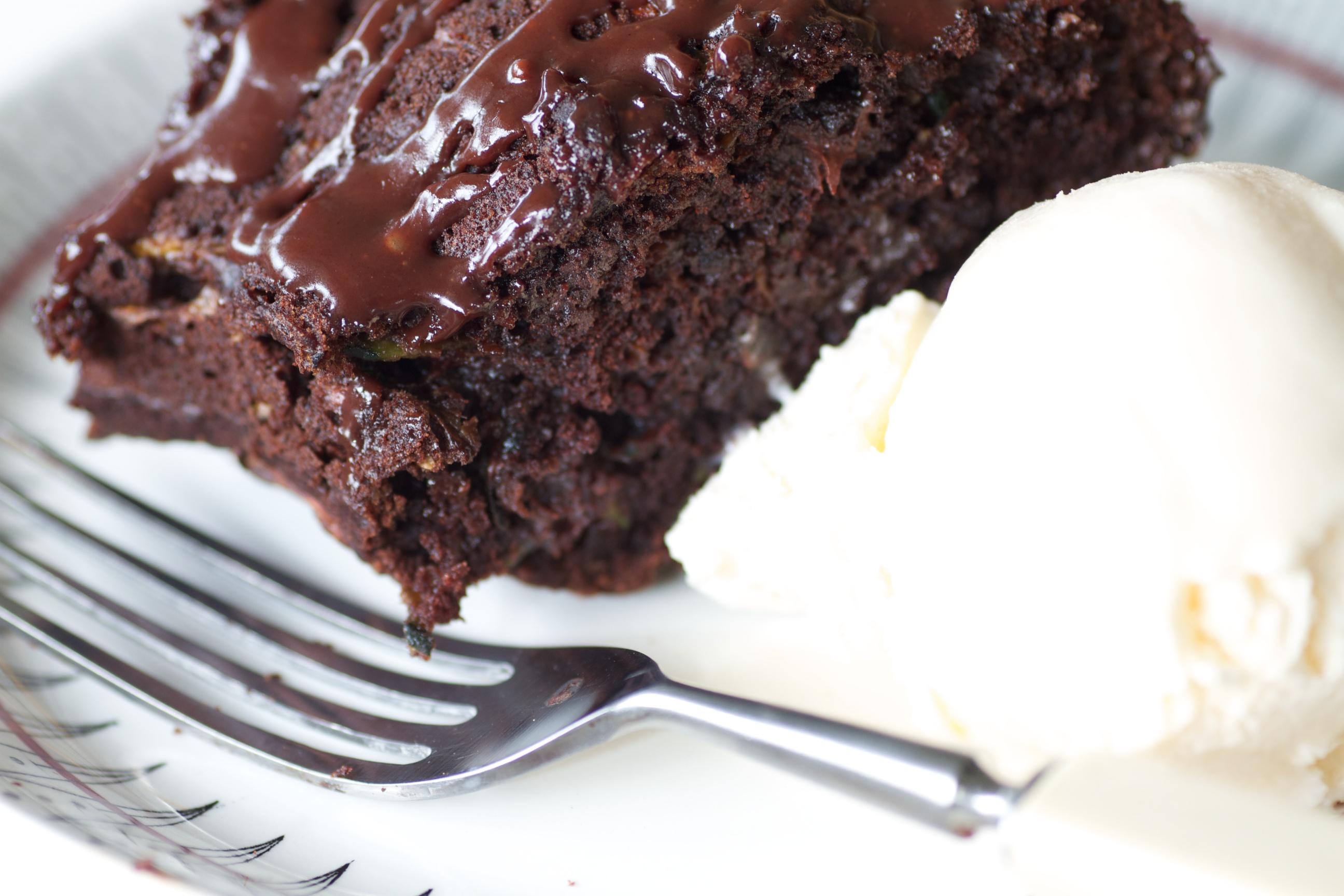 zucchini choc cake