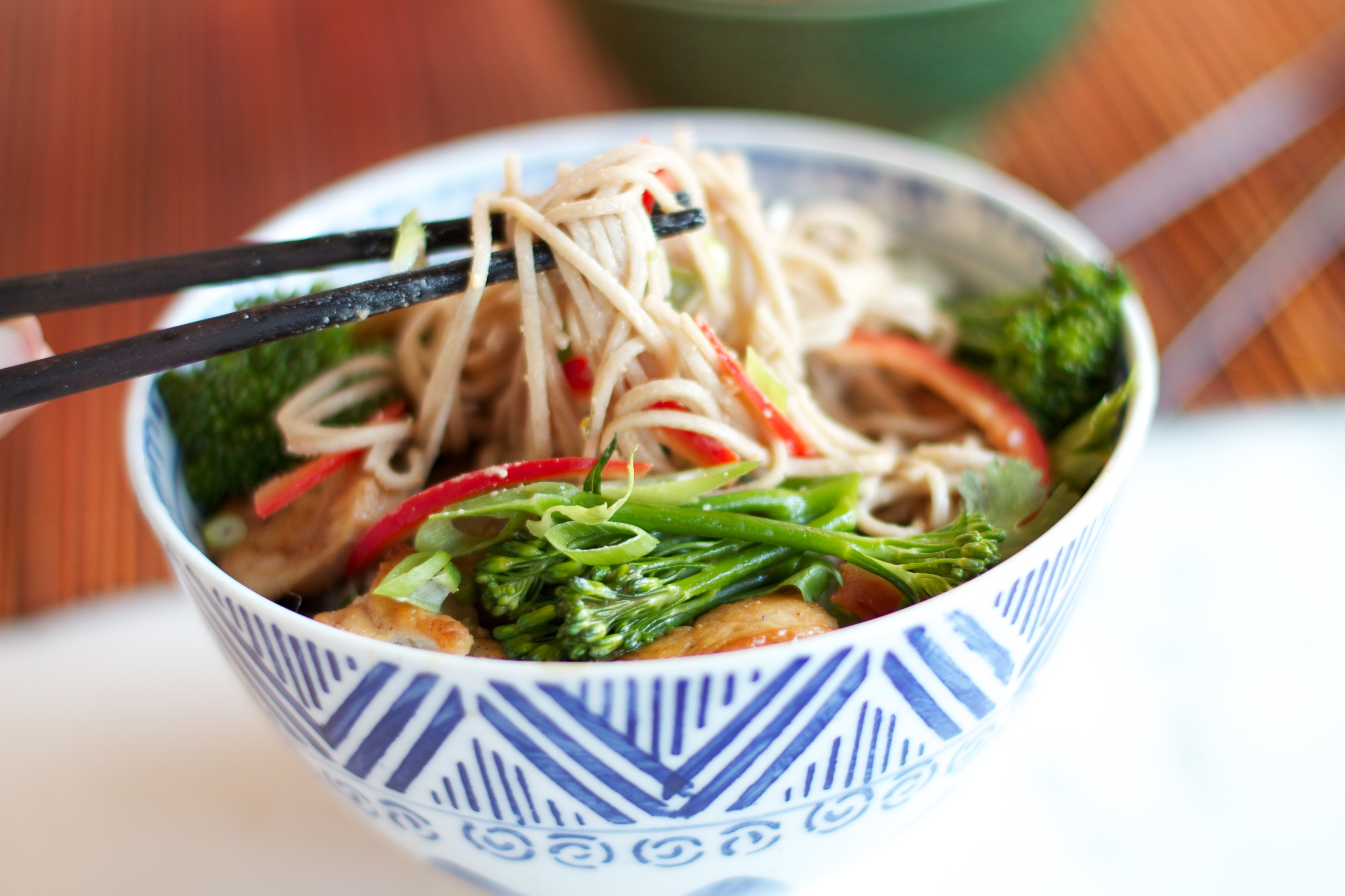 ... officially here diced veggies soba noodle soba noodle raw veggie salad
