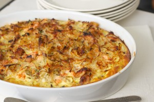 Salmon, Egg & Potato Gratin