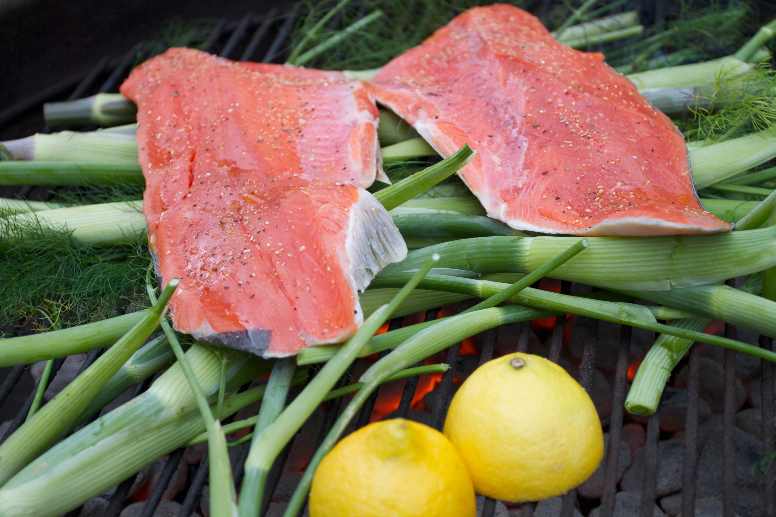 Fennel Barbecued Salmon | Mixed Greens Blog