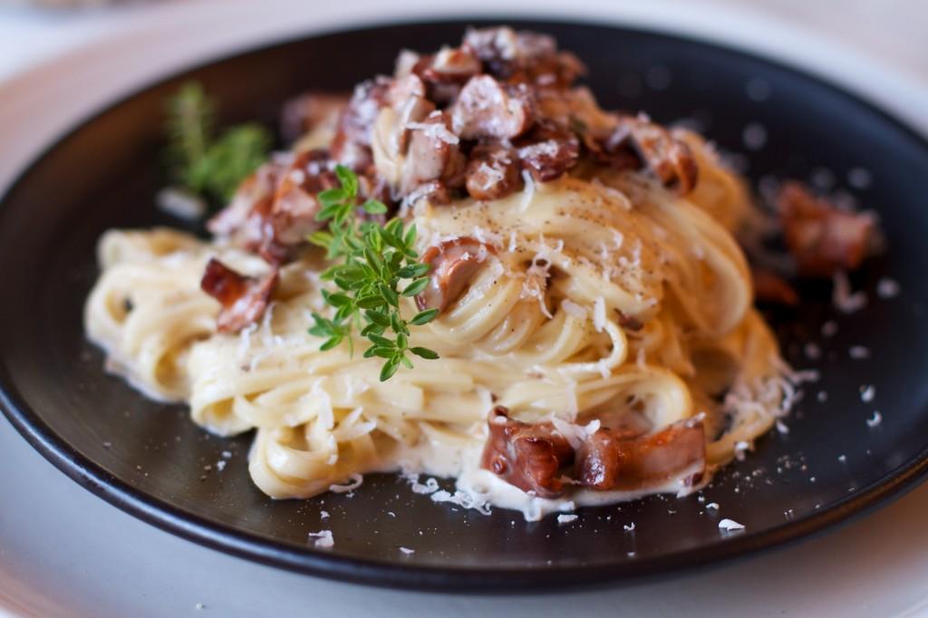 Спагетти с мясом в сливочном соусе рецепт пошагово