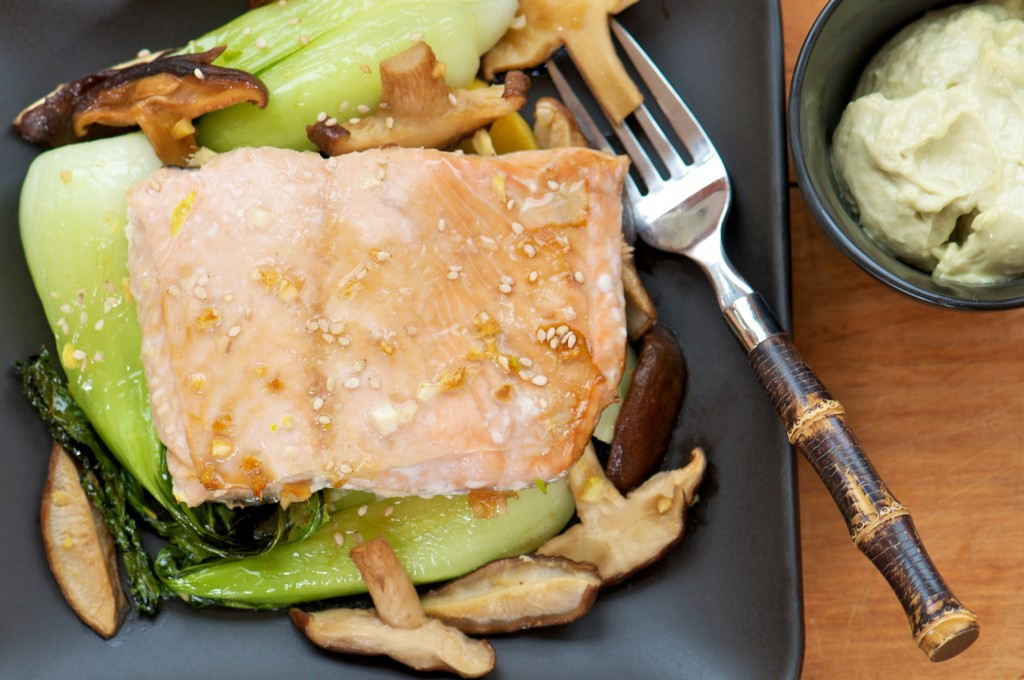 Salmon and Asian Vegetables