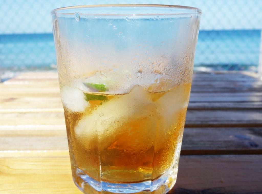 Rum on ice