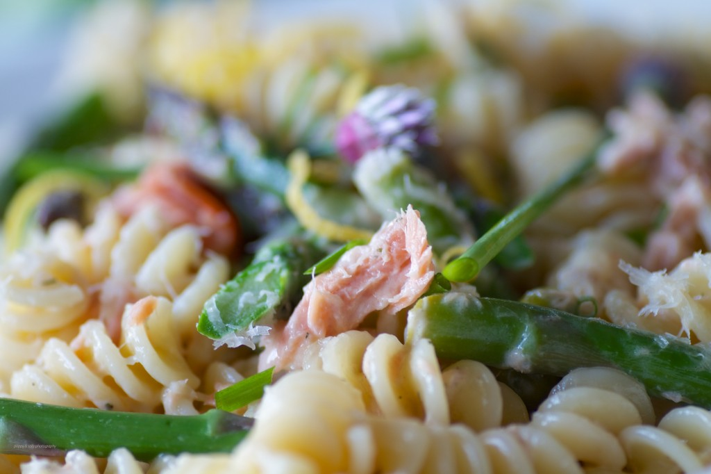 salmon & asparagus pasta