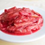 Rhubarb sauce