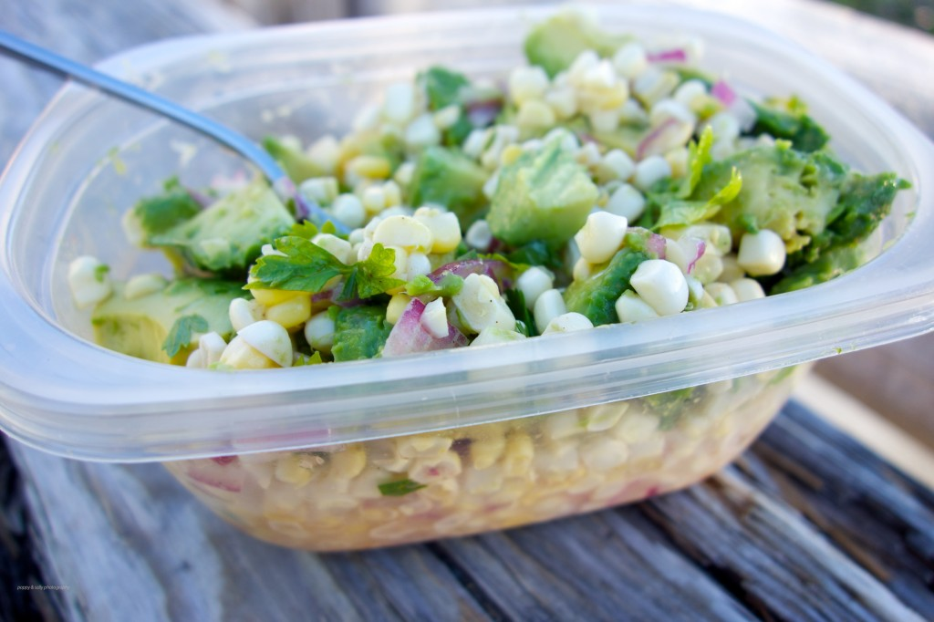 corn salsa and avocado