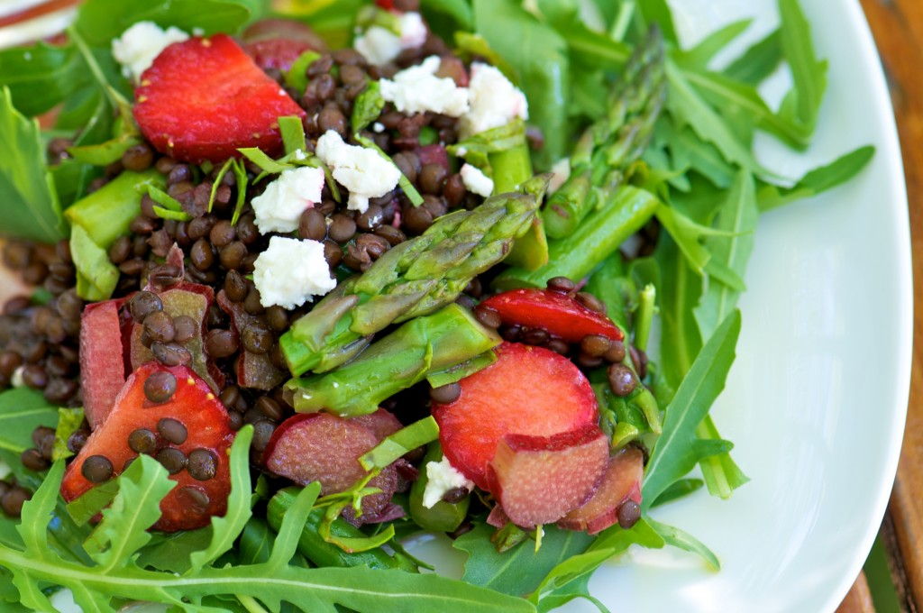Strawberry Lentil Salad