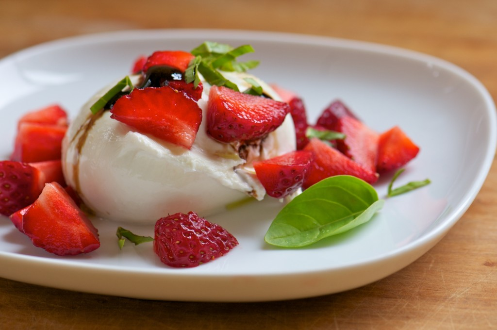 Burrata with Strawberries