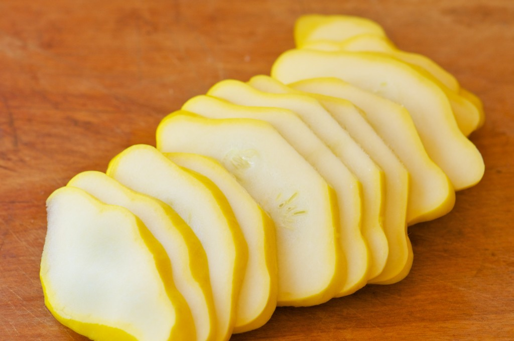 Sliced Scallop Squash