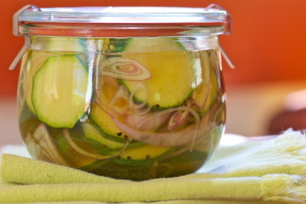 Zucchini Quick Pickles