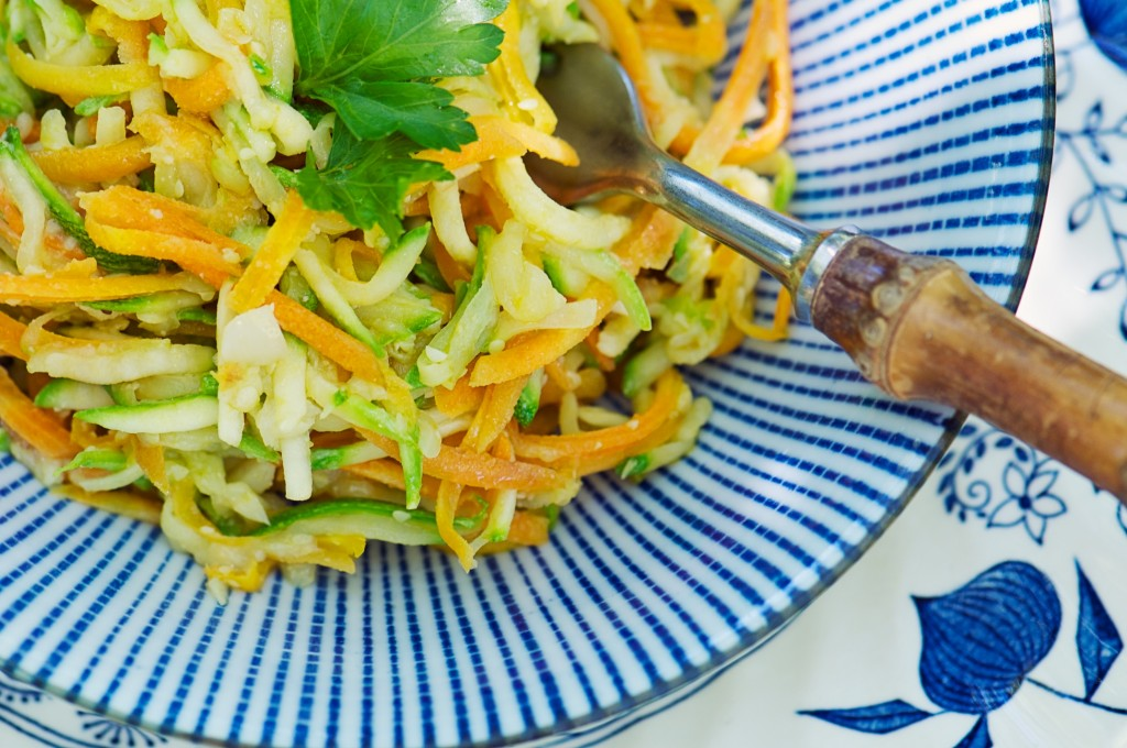 Shredded Zucchini and Carrot Saute
