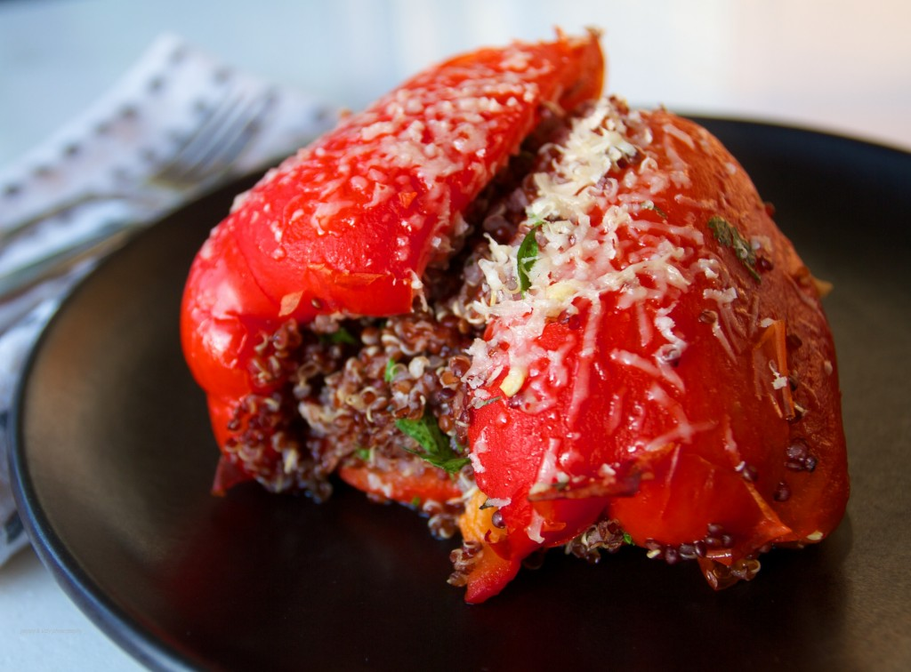 Quinoa stuffed roasted peppers