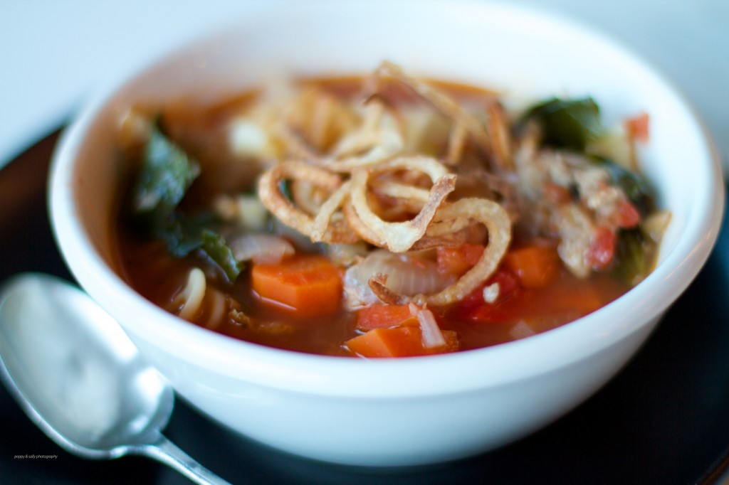 crispy shallots in soup