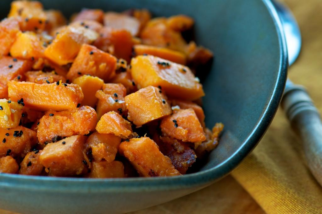 Pan-Roasted Sweet Potatoes
