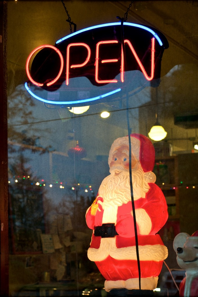 Santa in Window
