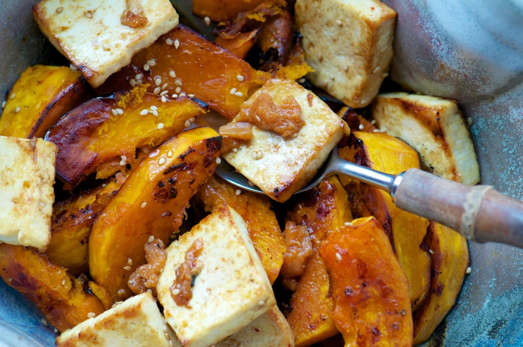 Squash and Tofu with Umeboshi Plums