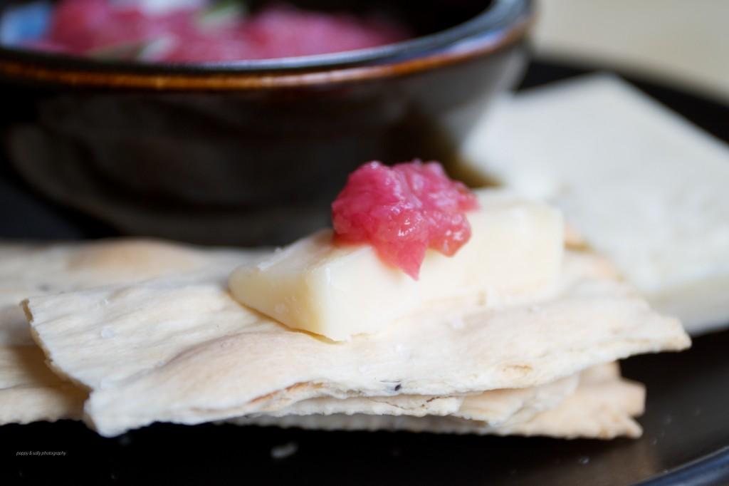 rhubarb thyme jam