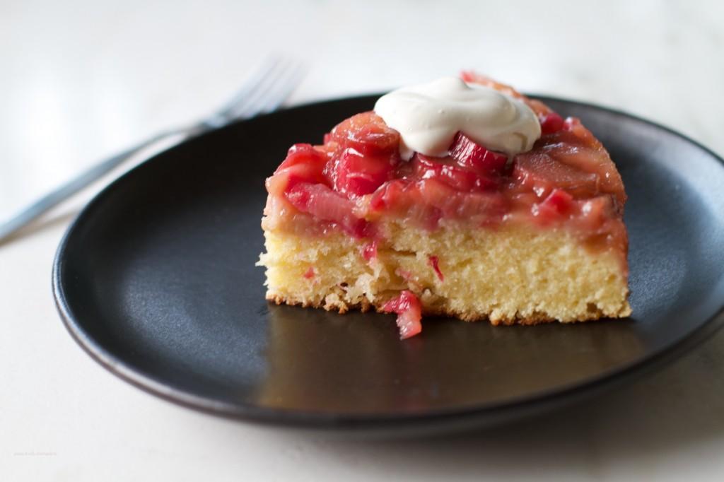 Rhubarb Upsidedown Cake