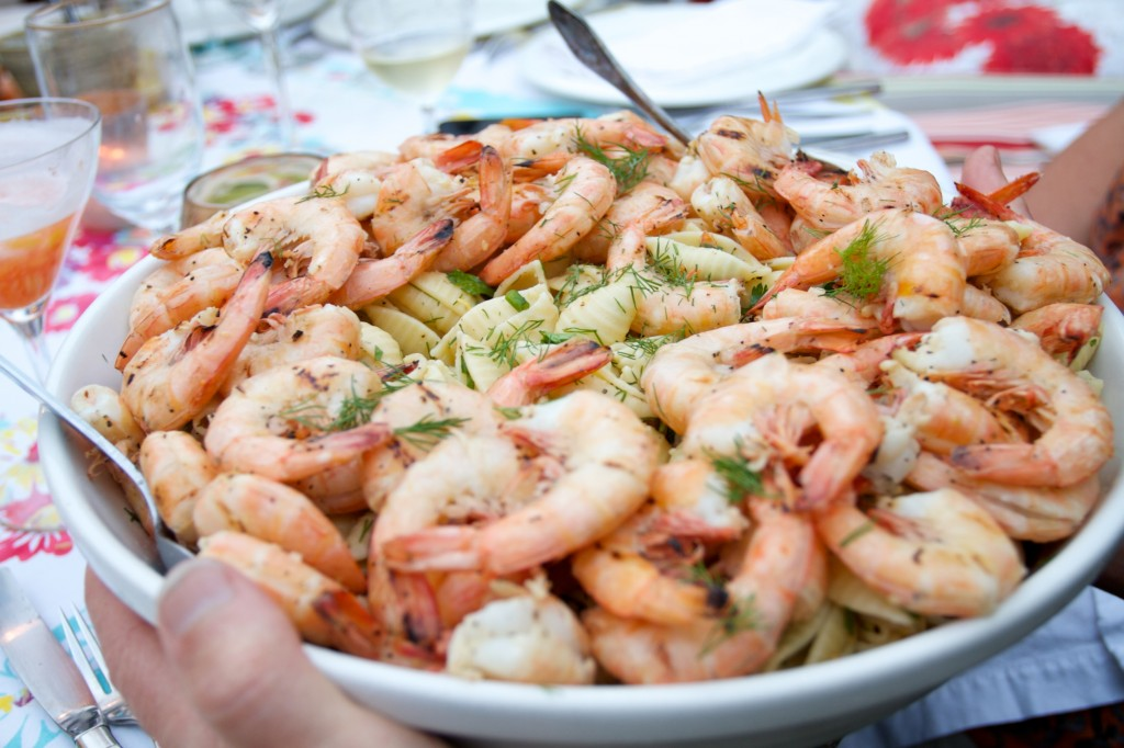 Pasta Salad with Prawns