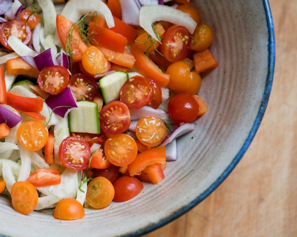 Late summer vegetables