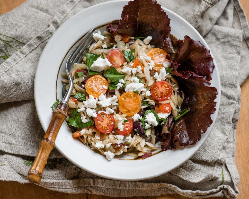 Orzo roasted vegetable salad