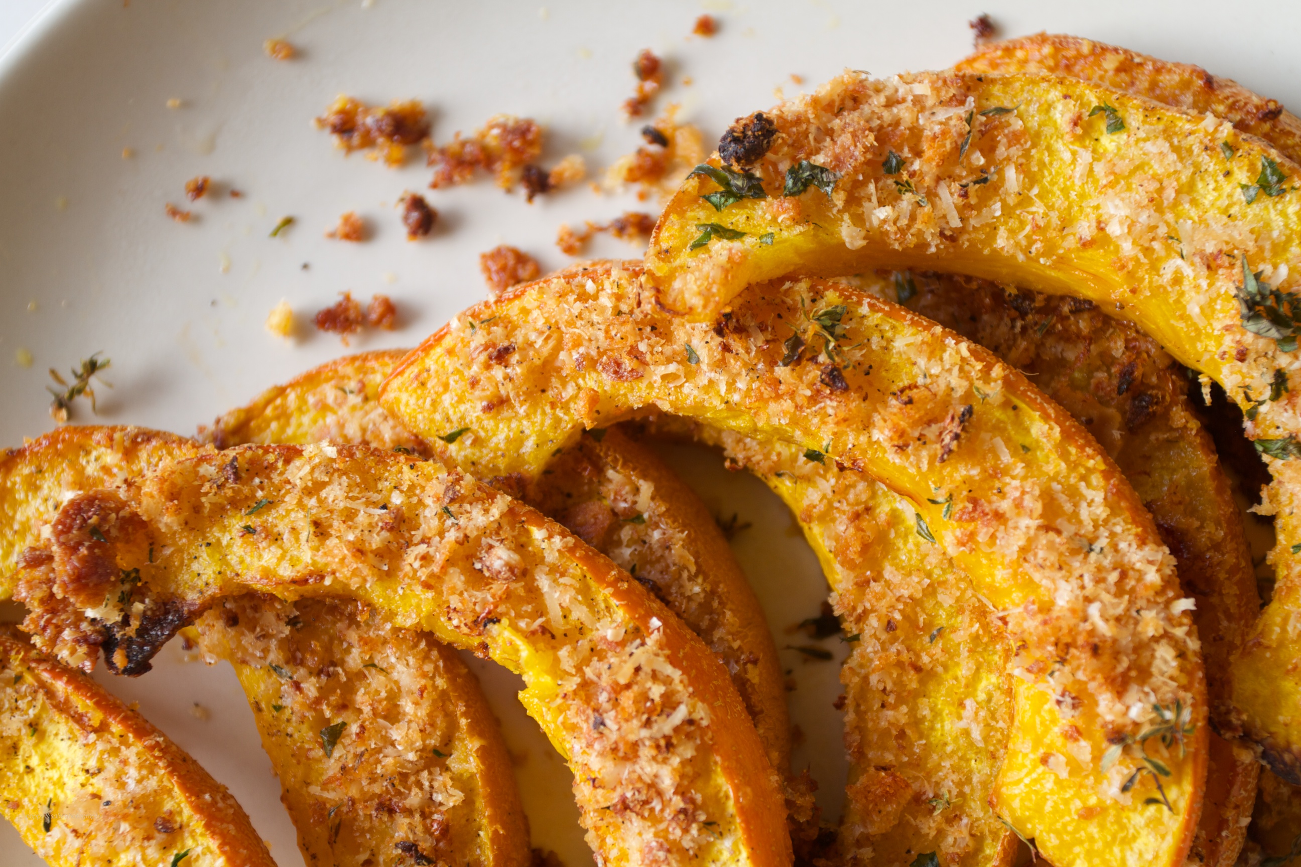 Crusty Roasted Pumpkin Wedges | Mixed Greens Blog